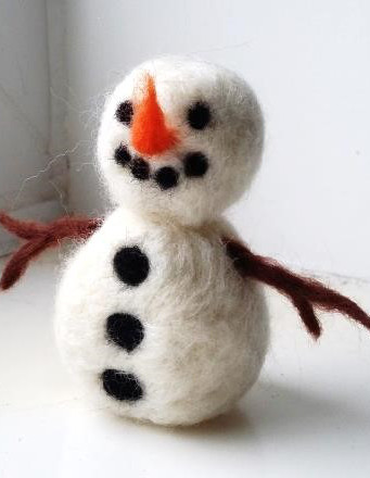 Needle Felted Snowman Workshop